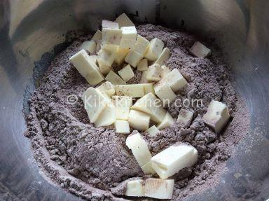 pasta frolla al cacao per cestini