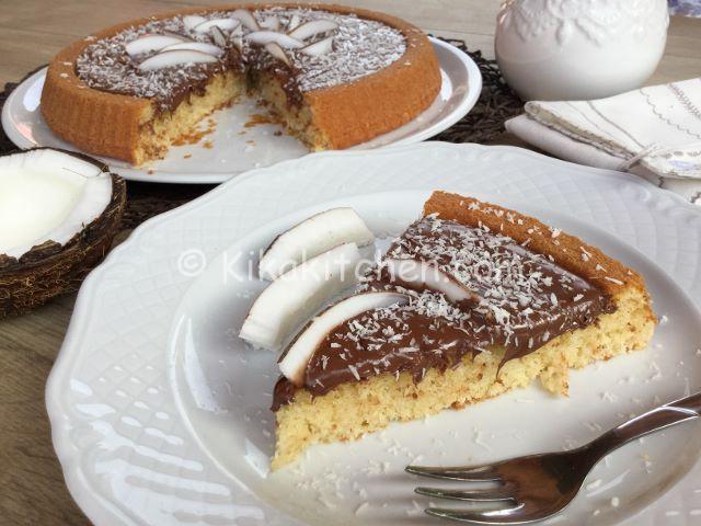 torta bassa cocco e nutella