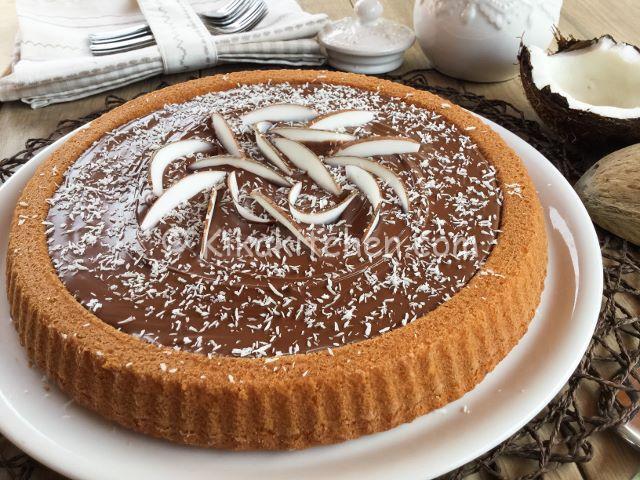 crostata morbida con farina di cocco