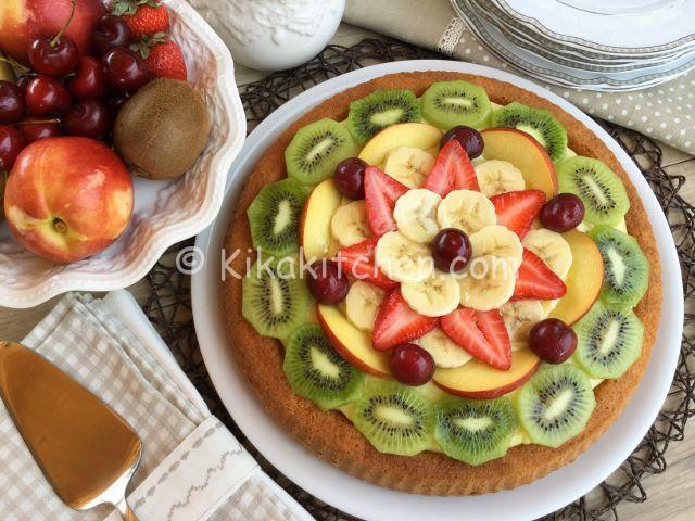 crostata morbida crema e frutta