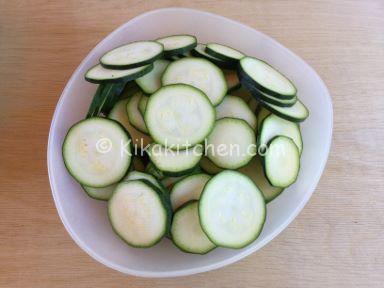 frittata di zucchine a rondelle