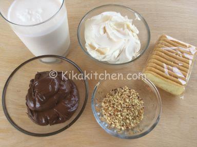 ingredienti bicchierini crema mascarpone e nutella
