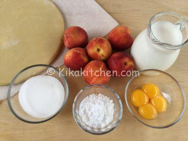 ingredienti crostata di pesche