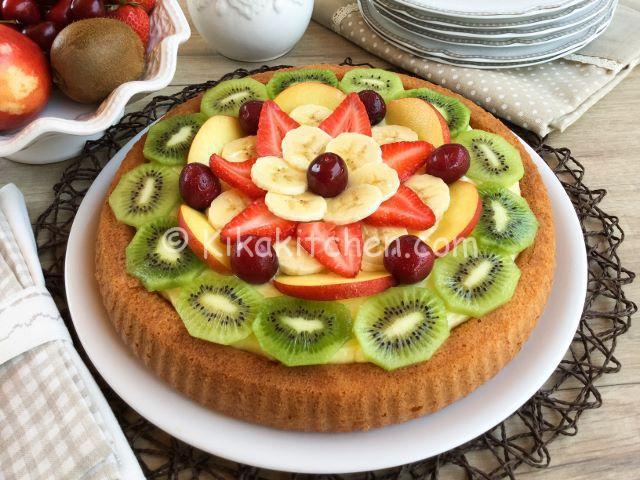torta alla frutta con crema