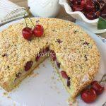 torta sbriciolata alle ciliegie
