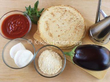 ingredienti crepes alla parmigiana