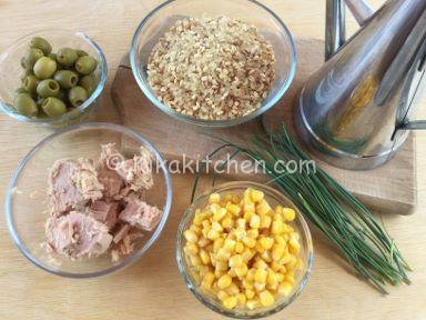 ingredienti insalata di riso farro e orzo