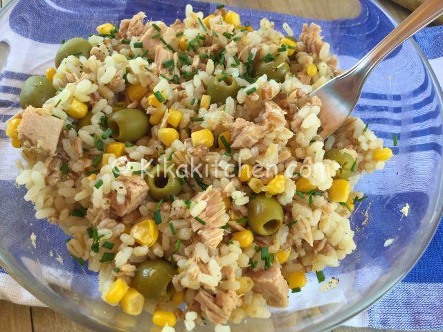 insalata di riso farro e orzo con tonno