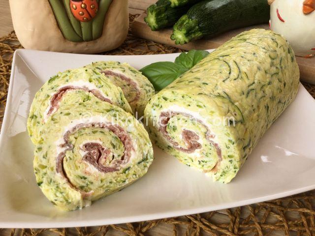Rotolo di zucchine con bresaola e philadelphia