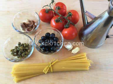 ingredienti pasta alla puttanesca
