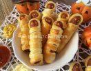 Wurstel mummia Antipasti festa di Halloween