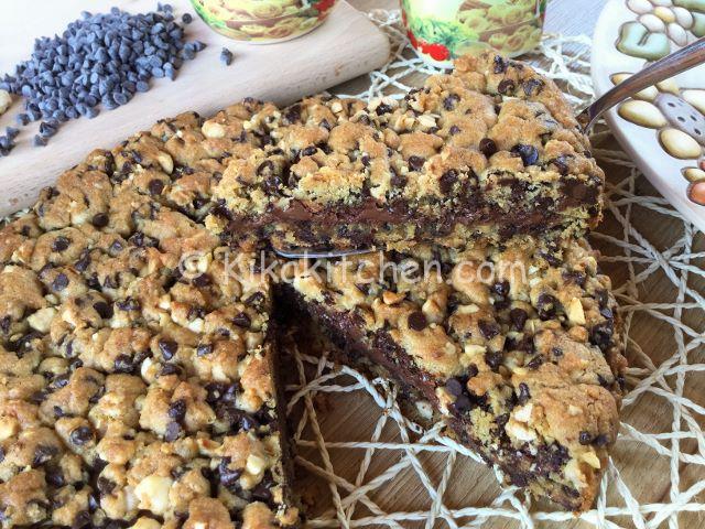 Torta cookies bimby ricetta facile e veloce