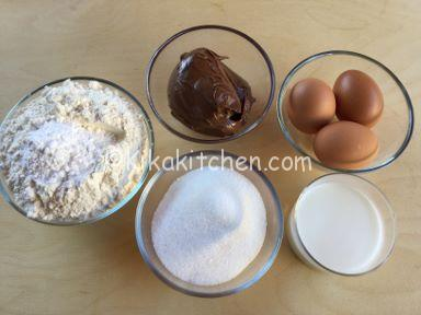 ingredienti muffin alla nutella