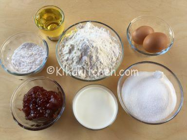ingredienti muffin marmellata