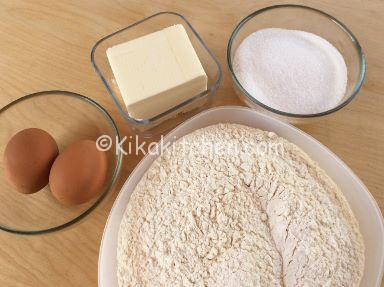 ingredienti pasta frolla 2 uova
