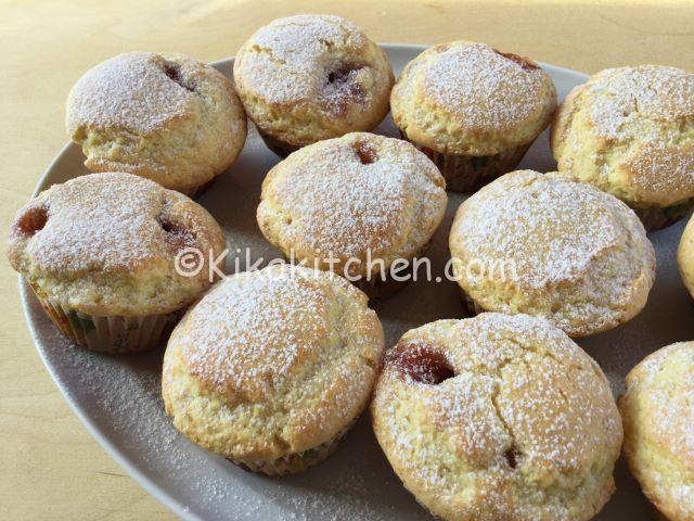 muffin con cuore morbido di marmellata