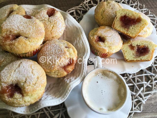 muffin con marmellata ricetta