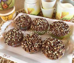 Muffin alla nutella alti e soffici. Ricetta facile.
