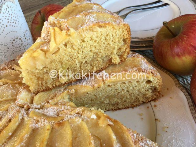 Torta di mele senza glutine e lattosio con farina di riso