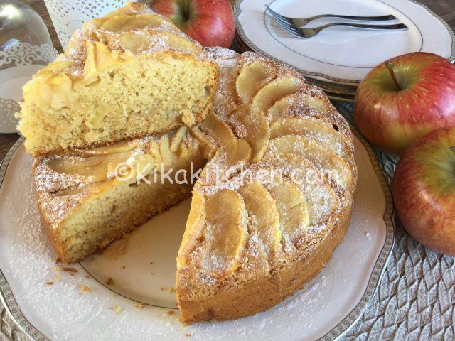 torta di mele senza glutine e lattosio