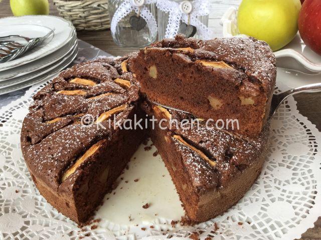 torta mele e cioccolato