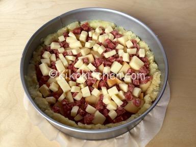 sbriciolata salata salme e formaggio