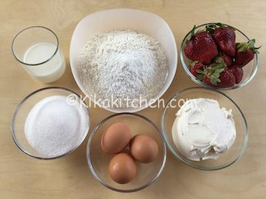 ingredienti torta mascarpone e fragole