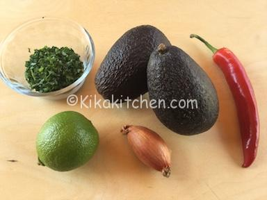 ingredienti salsa guacamole