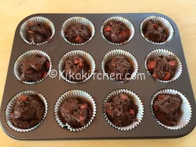 ricetta muffin cioccolato fragole