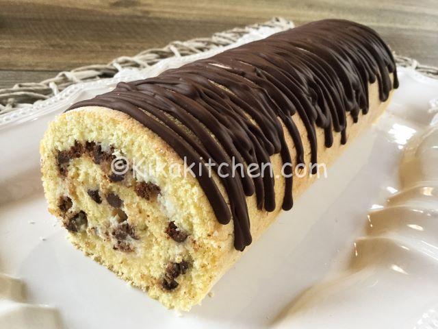 Rotolo con ricotta e gocce di cioccolato bimby