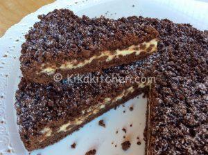 Sbriciolata al cacao con ricotta e gocce di cioccolato bimby