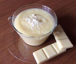Crema al cioccolato bianco bimby per farcire