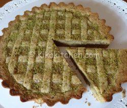 Crostata con crema al pistacchio bimby