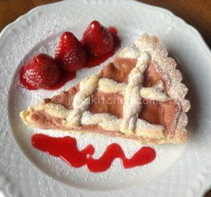 crostata con crema pasticcera alla fragola bimby