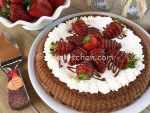 crostata morbida cioccolato panna e fragole bimby