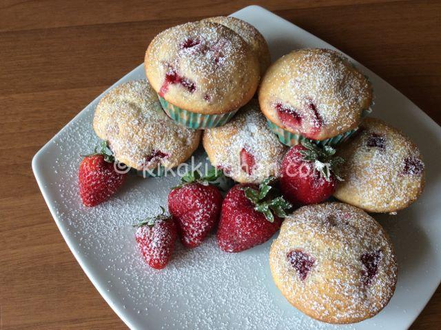 muffin alle fragole bimby