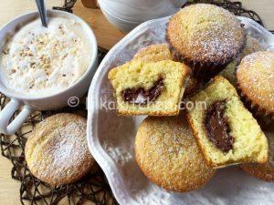 muffin con cuore di nutella bimby