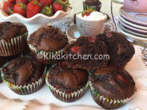 muffin fragole e cioccolato bimby