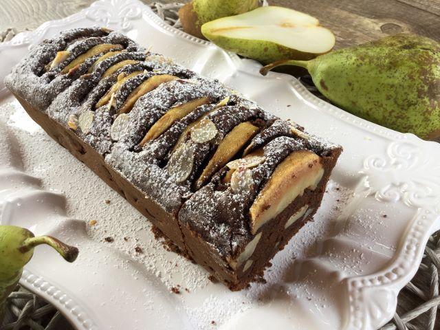 plumcake pere e cioccolato bimby