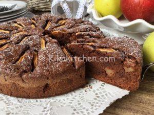 torta di mele e cioccolato bimby