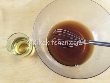 acqua zucchero di canna e olio