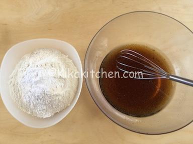 acqua zucchero e farina