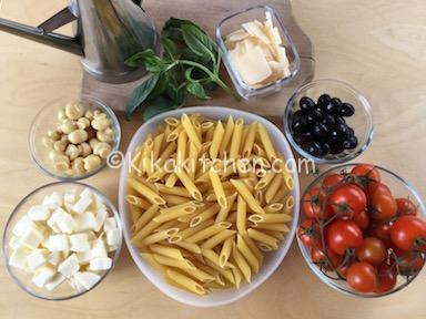 ingredienti pasta fredda