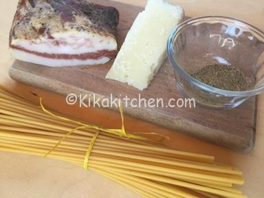 ingredienti pasta alla gricia