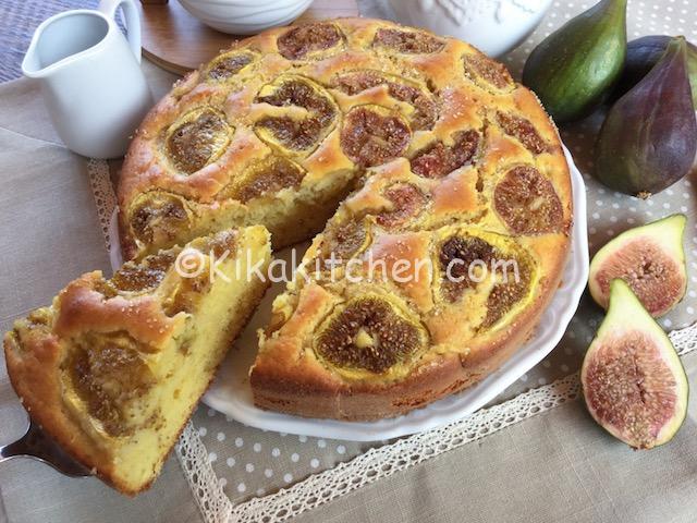 torta con fichi freschi