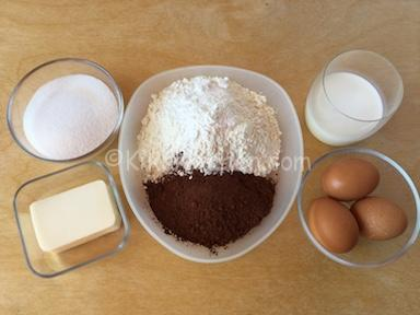 ingredienti torta al cacao