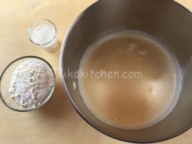preparazione pan di spagna sottile