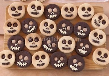 biscotti teschio per halloween