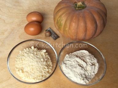 ingredienti frittelle di zucca