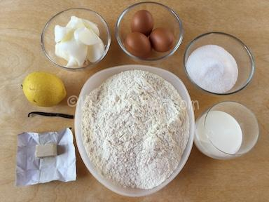 ingredienti pan brioche dolce